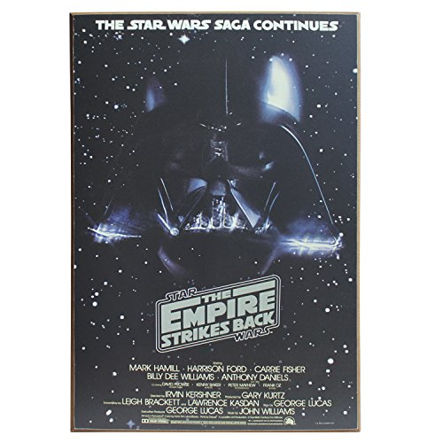 "Disney Silver Buffalo Star Wars Episode 5 Darth Vader Wood Wall Art, 13"" by 19"""