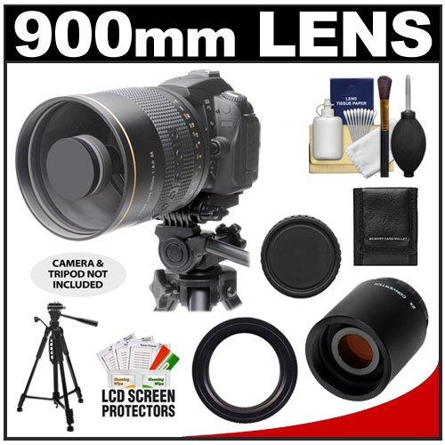 Polaroid 900Mm F/8 Mirror Lens & 2X Teleconverter (= 1800Mm) With 58-Inch Tripod + Accessory Kit For Canon Eos 60D, 7D, 5D Mark Ii Iii, Rebel T3, T3I, T4I Digital Slr Cameras