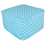 Small Polka Dot Bean Bag Ottoman