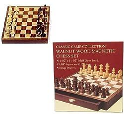 Walnut Wood Magnetic Chess Set