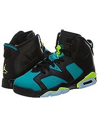 Nike Air Jordan Retro 6 OG Basketball Girl Shoes Silver/Black/Pink 543390-009