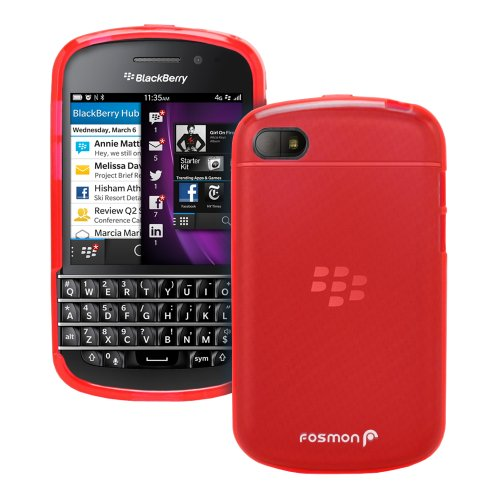Fosmon Dura Frost Slim-Fit Flexible Tpu Case For Blackberry Q10 - Red
