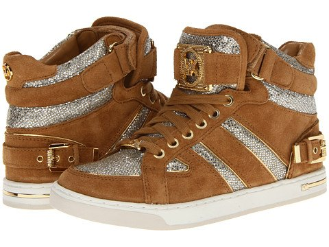 Michael Michael Kors Women'S Fulton High Top Sneaker (Walnut, 7.5)