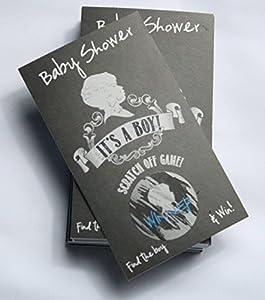 "Vintage Chalkboard ""It's a Boy"" Baby Shower Scratch Off Cards Set 25 Cards (24 Sorry 1 Winner)"