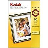 "Kodak Ultra Photo Inkjet Paper, 10x15, (6"" x 4"") 20 Sheets"