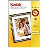 "Kodak Ultra Photo Inkjet Paper, 10x15, (6"" x 4"") 20 Sheets"
