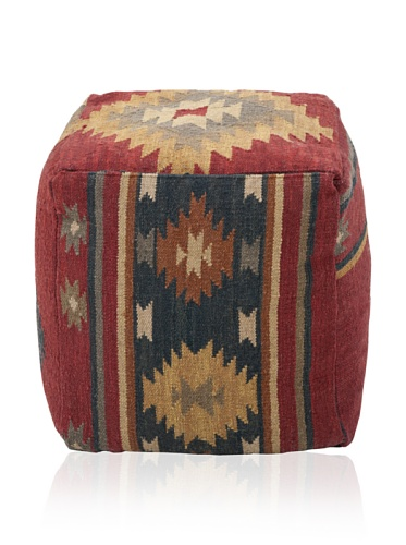 Surya POUF-16 Hand Made 100% Wool Sky Blue 18