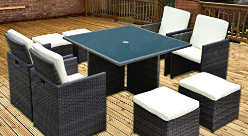 Rattan-Cube-Dining-Set-8-Seats-Deluxe-Garden-Patio-Conservatory-Furniture-Including-Cushions-FREE-Rain-Cover