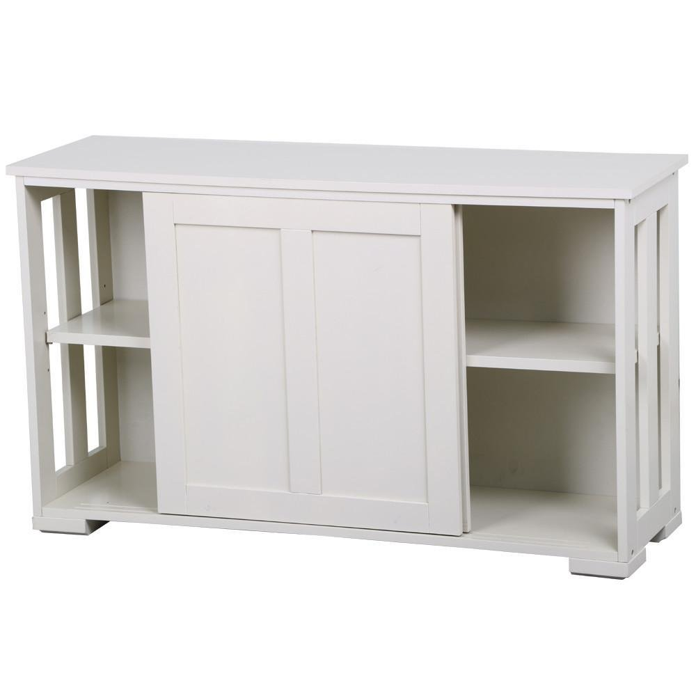 go2buy Antique White Stackable Sideboard Buffet Storage Cabinet with Sliding Door Kitchen Dining