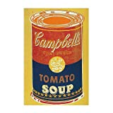 Colored Campbell's Soup Can, c.1965 (yellow & blue) Art Print Art Poster Print by Andy Warhol, 11x14
