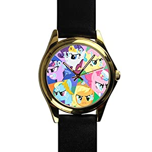 Time Walker Men's Easy to Read CSDBY0621667 My Little Pony Anger Display Analogue Black Dial Bracelet Watch