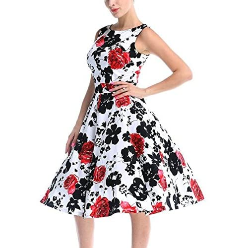 CHIC.U 1950's Vintage Floral Spring Garden Party Picnic Dress Party Cocktail Dress