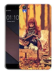 """Girl Reading In WoodsPrinted Designer Mobile Back Cover For """"Oppo F1 PLUS"""" (3D, Matte, Premium Quality Snap On Case)"""