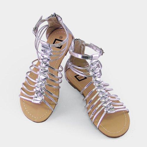 Silver Charisma Gladiator Women Sandal US09
