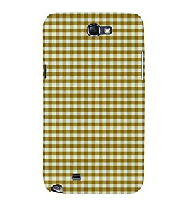 Checks Pattern 3D Hard Polycarbonate Designer Back Case Cover for Samsung Galaxy Note 2 :: Samsung Galaxy Note 2 N7100