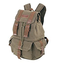 Koolertron Canvas Shoulder Bag with Waterproof Cover for DSLR Cameras