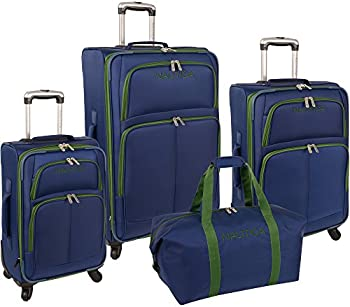 Nautica Bay Breeze 4-Pc Spinner Luggage Set
