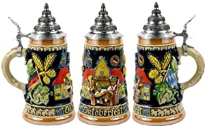 Munich Octoberfest LE German Beer Stein 0.4 Liter by King Werks