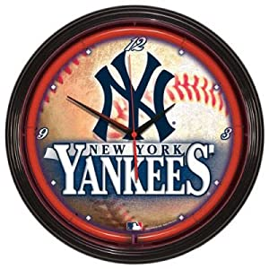 New York Yankees Neon clock Major League Baseball by Wincrafts