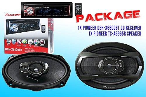 Package ! Pioneer Deh-X6600Bt Cd-Receiver + Pioneer Ts-A6975R Car Speakers