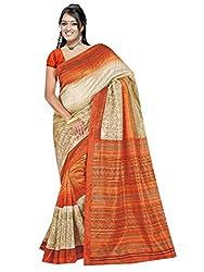 SareeShop Women's Saree with Blouse Piece Saree (Bhagalpuri1086_MultiColored _Free Size)