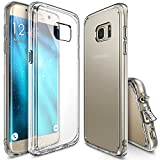 Galaxy S7 Edge Case, Ringke [Fusion] Crystal Clear PC Back TPU Bumper [Drop Protection/Shock Absorption Technology][Attached Dust Cap] For Samsung Galaxy S7 Edge - Crystal View