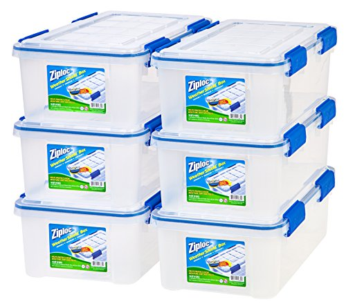 IRIS 16 Quart Ziploc WeatherShield Storage Box, 6 Pack (Toy Storage Containers compare prices)
