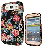 Designer Shabby Chic Vintage Floral Roses Cute Samsung Galaxy S3 I9300 Case Full Cover Front and Back