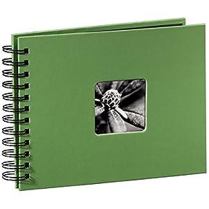Hama Fotoalbum Fine Art, 50 schwarze Seiten (25 Blatt), Spiralalbum 24 x 17 cm, mit A