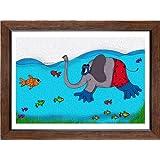 "ArtSquare ""Explorer Elephant"" Art Print (Canvas Print, 36""x24"", Tamara Frame)"