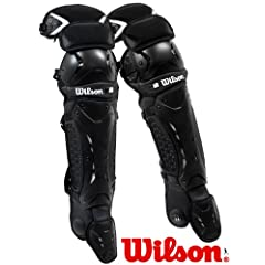 Wilson ProMotion WTA3501BL Baseball Catchers Leg Guards Adult (17) by Wilson