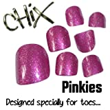 Chix Nails Nail Wraps PINKIES Pink Glitter JUST FOR TOES Toes Vinyl Foils Minx Trendy Style SALON