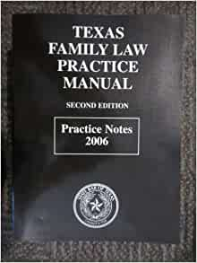 texas family law practice manual