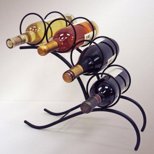J&J Wire 4-Bottle Wine Rack front-617561