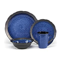 Cuisinart Stoneware Jenna Blue Collection 16-Piece Dinnerware Sets by Cuisinart