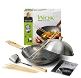 Ken Hom 31cm Traditional Carbon Steel 10 Pce Wok Set