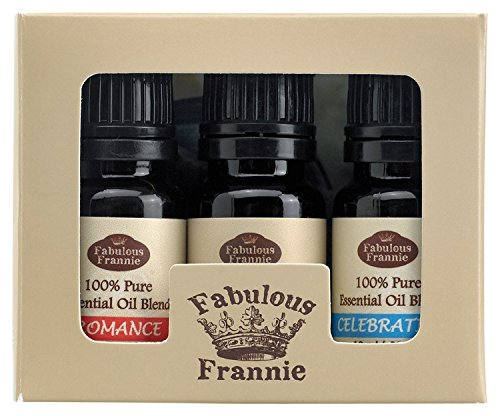 100% Pure Essential Oil Freedom Set - Celebration Blend, Romance Blend, Vanilla - Great for Aromatherapy