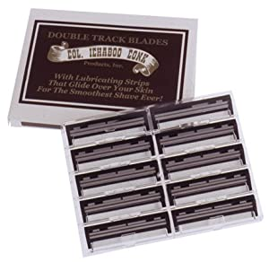 Colonel Conk Doubletrack Razor Blades * With Lubricating Strip * 10 Pack Of Blades