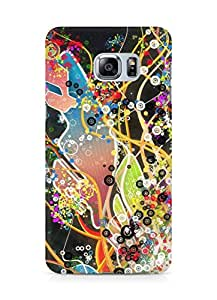 Amez designer printed 3d premium high quality back case cover for Samsung Galaxy S6 Edge Plus (Abstract Dark 29)