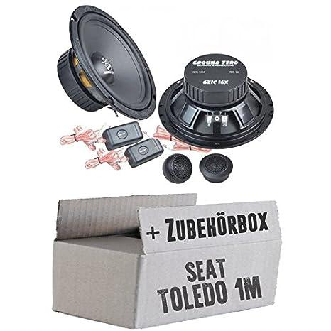 SEAT TOLEDO 1m-Ground Zero GZIC 16x-16cm-Système de haut-parleur Kit de montage
