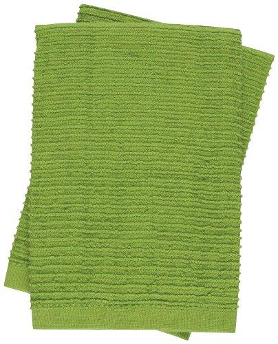 KAF Home Wave Dish Cloth, Set of 2, Apple