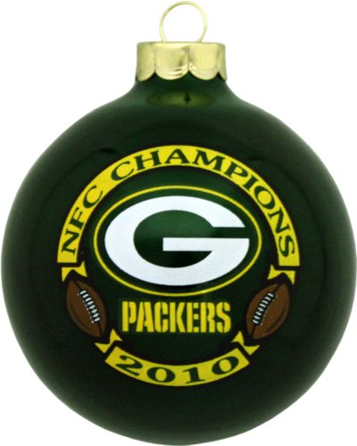 Green Bay Packers 2010 NFC Champions Round Green Ornament