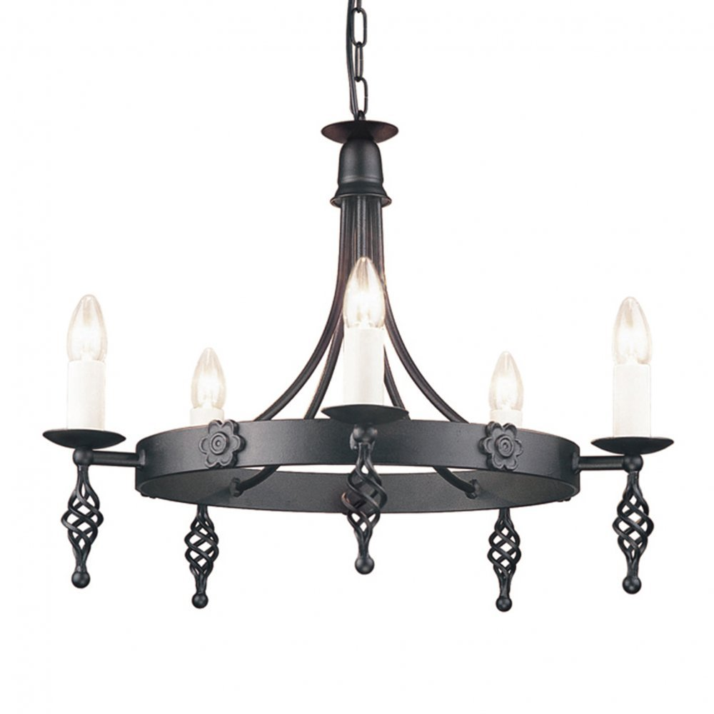 Belfry 5 Light Black Ceiling Light  Elstead        reviews and more information