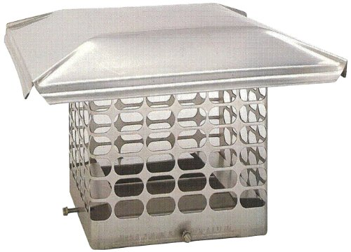 The Forever Cap CCSS88S 8 x 8-Inch Stainless Steel Single Flue Chimney Cap, Small