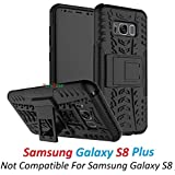 Yes2Good Hybrid Military Grade Armor Kick Stand Back Cover Case For Samsung Galaxy S8 Plus (Black)