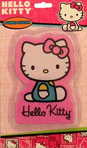 "Hello Kitty Jumbo 4"" pink Eraser"