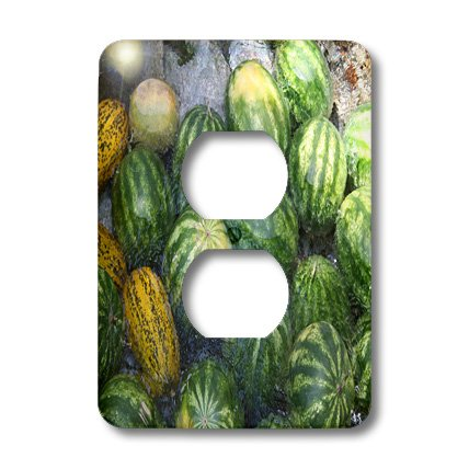 Lsp_195376_6 Taiche - Photography - Fruit - Cool Watermelon - Light Switch Covers - 2 Plug Outlet Cover
