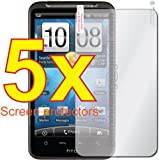 5x HTC Inspire 4G Premium Clear LCD Screen Protector Cover Guard Shield Flim Kit