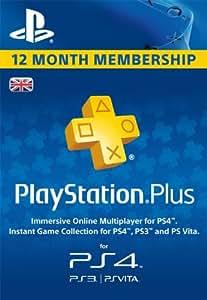 PlayStation Plus 12 Month Membership  [PSN Code - UK account]