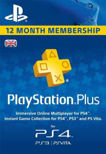 PSN Playstation Plus 12-month Membership UK Online Code (PS4)